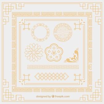 Orientali elementi ornamento