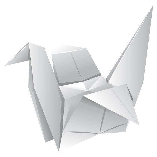Origami art con uccello di carta