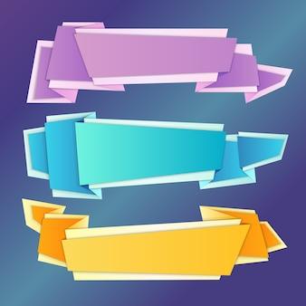 Set di banner origami