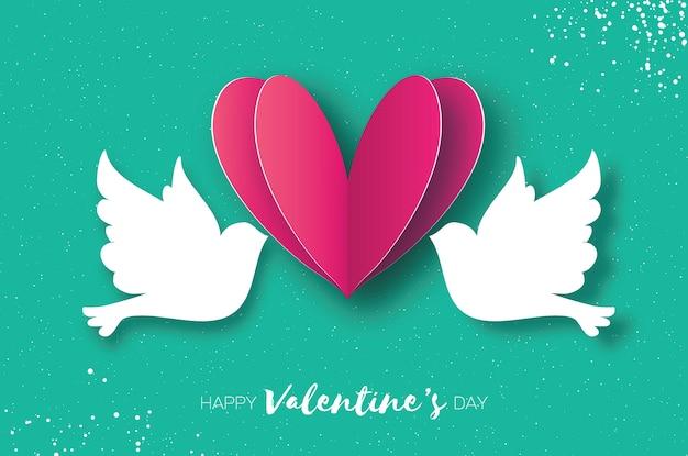 Cartolina d'auguri di buon san valentino di origami