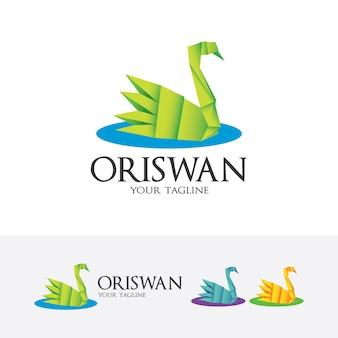Logo del cigno origami