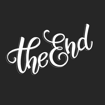 Testo originale scritto a mano the end