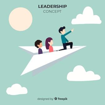 Composizione di leadership originale con aerei di carta