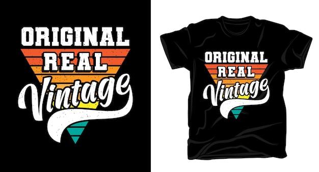 Tipografia vintage reale originale per il design di t-shirt