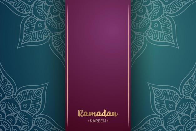 Ornamento bellissimo sfondo con mandala. per ramadan kareem