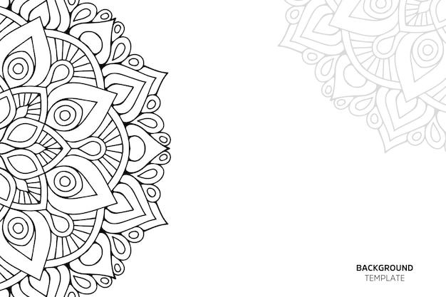 Ornamento bella carta con mandala