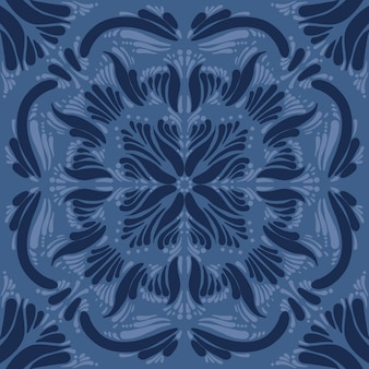 Ornamento per ceramica blu
