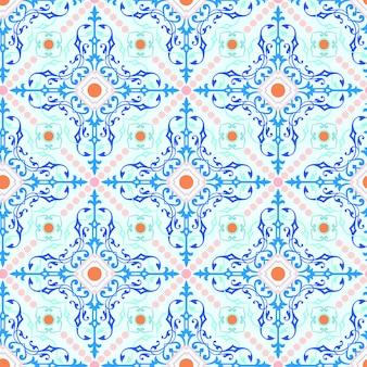 Modello senza cuciture dell'ornamento per il fondo della carta da parati del mosaico delle mattonelle.