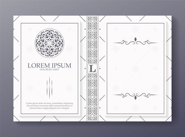 Design ornamentale per la copertina del libro