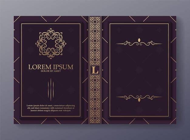 Copertina del libro ornamentale