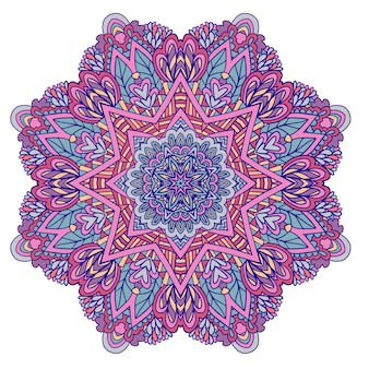 Fantasia ornamentale boho magic design stampa medaglione vettoriale