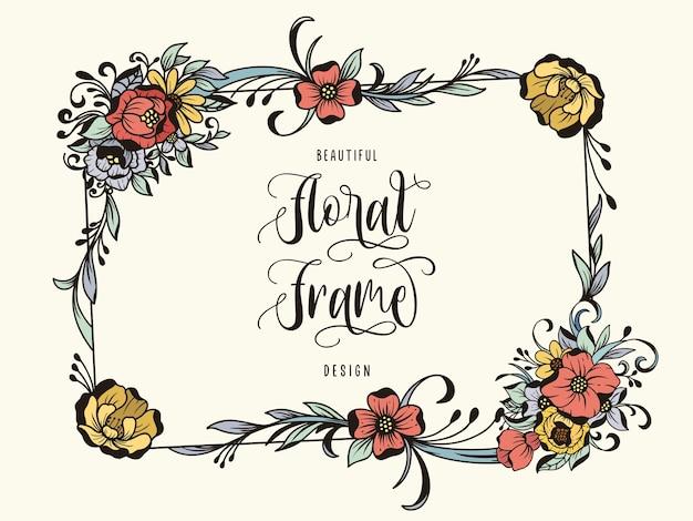Cornice floreale ornamentale