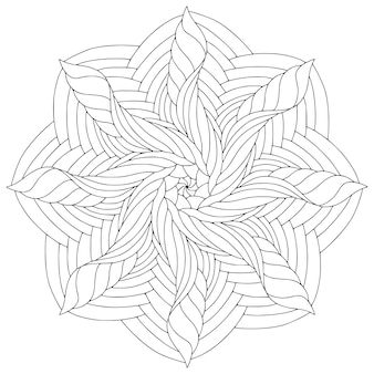 Mandala lineare ornamentale