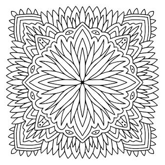 Mandala ornamentale disegno della pagina del libro da colorare