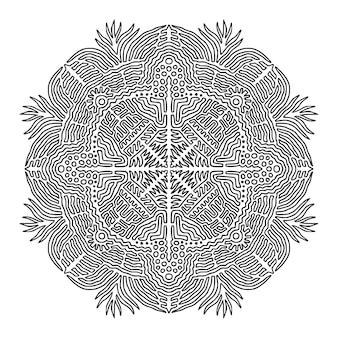 Pagina del libro da colorare mandala ornamentale