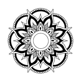 Mandala ornamentale per la colorazione