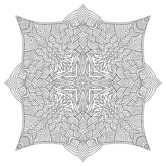 Mandala ornamentale pagina del libro da colorare