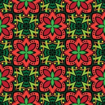 Priorità bassa dell'estratto di disegno ornamentale della mandala. modello senza soluzione di continuità