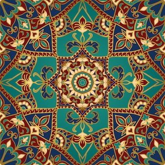 Motivo ornamentale con mandala.