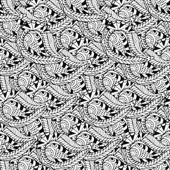 Motivo ornamentale senza soluzione di continuità. struttura in bianco e nero di vettore.