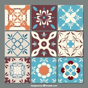 Mattonelle ornamentali set