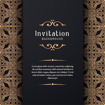 Invito a nozze ornamentali con stile elegante Vettore Premium