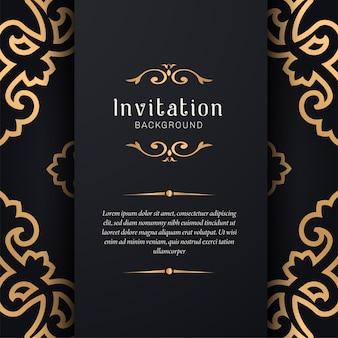 Invito a nozze ornamentali con stile elegante