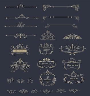 Cornici decorate e loghi di lusso