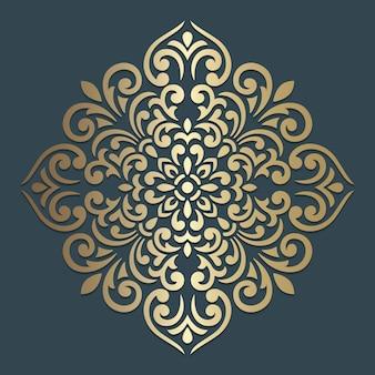 Design ornato mandala. modello quadrato ornamentale.