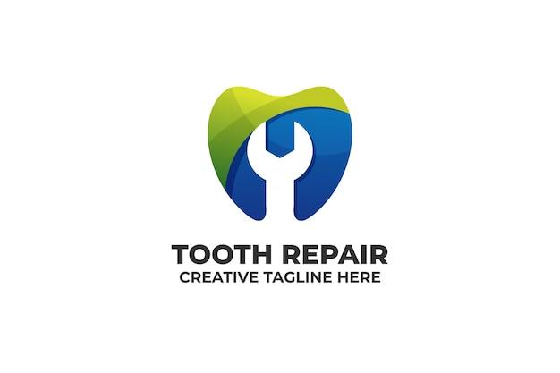Logo della clinica dentale del dente dell'ortodontista