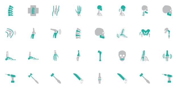 Simbolo ortopedico e colonna vertebrale