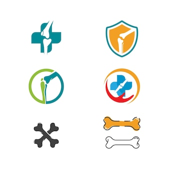 Modello di illustrazione del design dell'icona di vettore ortopedico