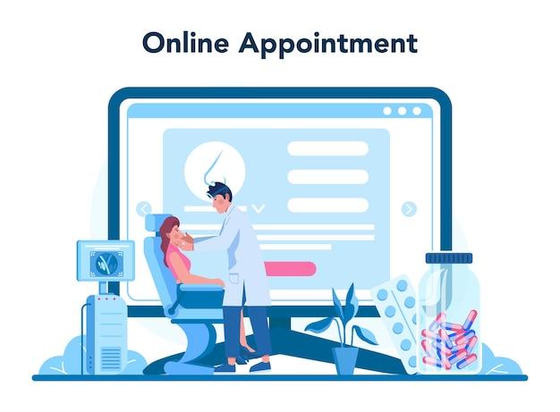 Servizio o piattaforma online di otorinolaringoiatra