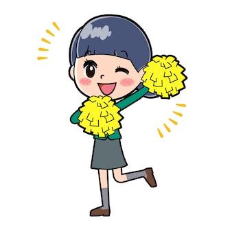 Green_ouenn-wink ragazza della scuola fuori linea