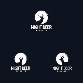 Modello di progettazione del logo dei cervi all'aperto e all'avventura