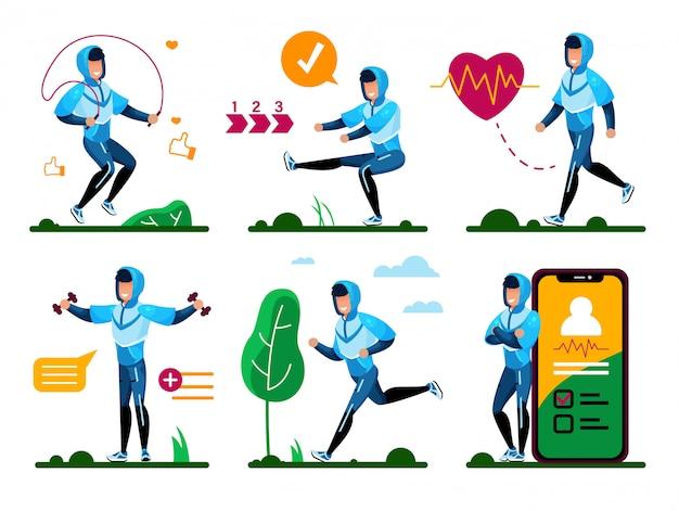 Set di allenamento fitness all'aperto