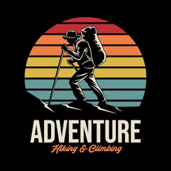 Illustrazione di avventura all'aperto