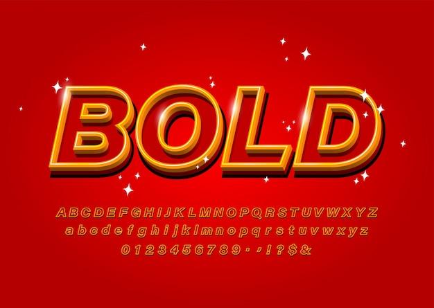 Contorni grassetto alfabeto su carattere astratto rosso vettoriale