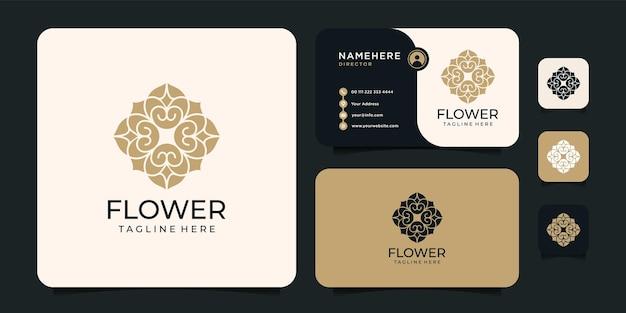 Delineare il concetto di design del logo del fiore