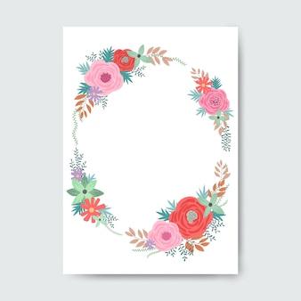 Cornice ovale a base di fiori