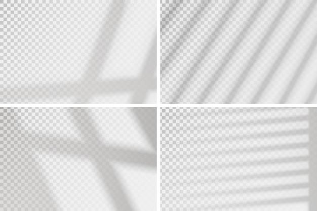 Effetto finestra di sovrapposizione. set di quattro scene di luce naturale