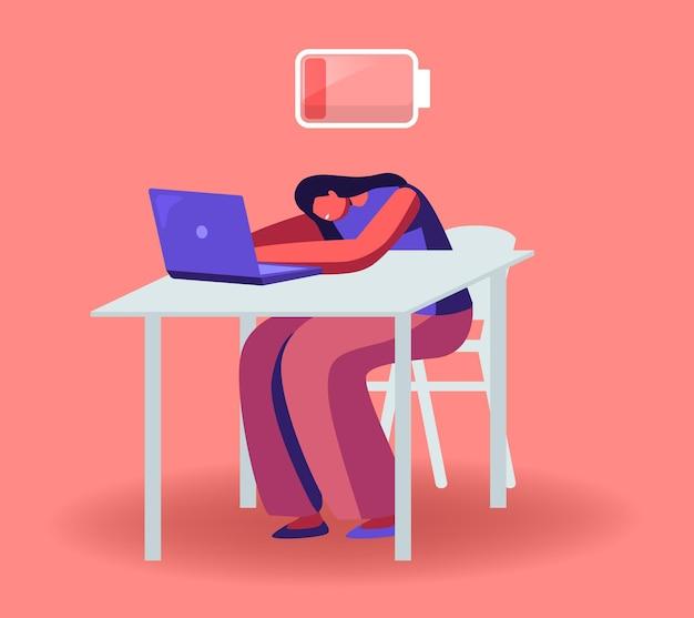 Illustrazione di sintomi di burnout di lavoro eccessivo