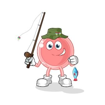 Illustrazione del pescatore di ovulo