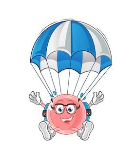 Personaggio di paracadutismo ovum