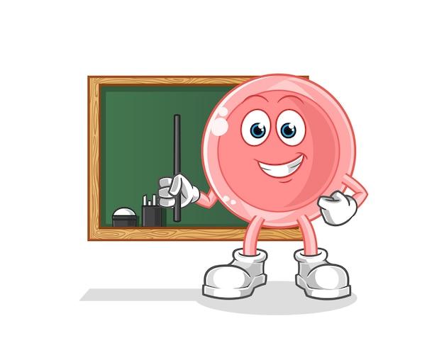 Personaggio dei cartoni animati di insegnante di ovulo