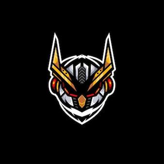 Illustrazione del logo del robot del robot del gufo