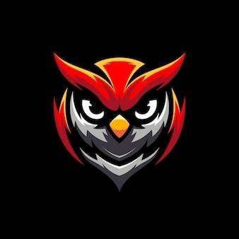Illustrazione del logo del mascot di gioco del gufo