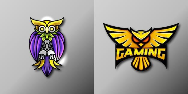 Logo della mascotte del gioco del gufo
