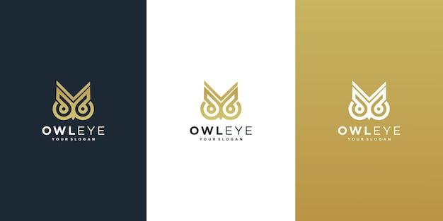 Gufo logo occhio logo design