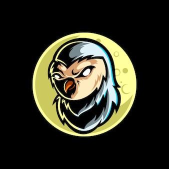 Mascotte del gufo logo design